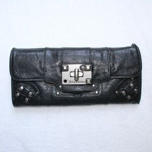 Juicy Couture Black Studded Bifold Wallet w Insert